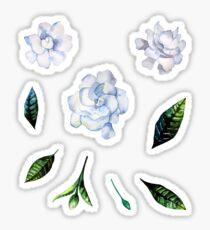 Aquarell Gardenia-Set Sticker