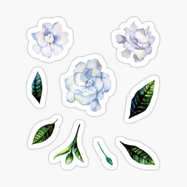 Watercolor gardenia set Sticker