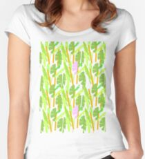 Tropical Plantation Women's Fitted Scoop T-Shirt