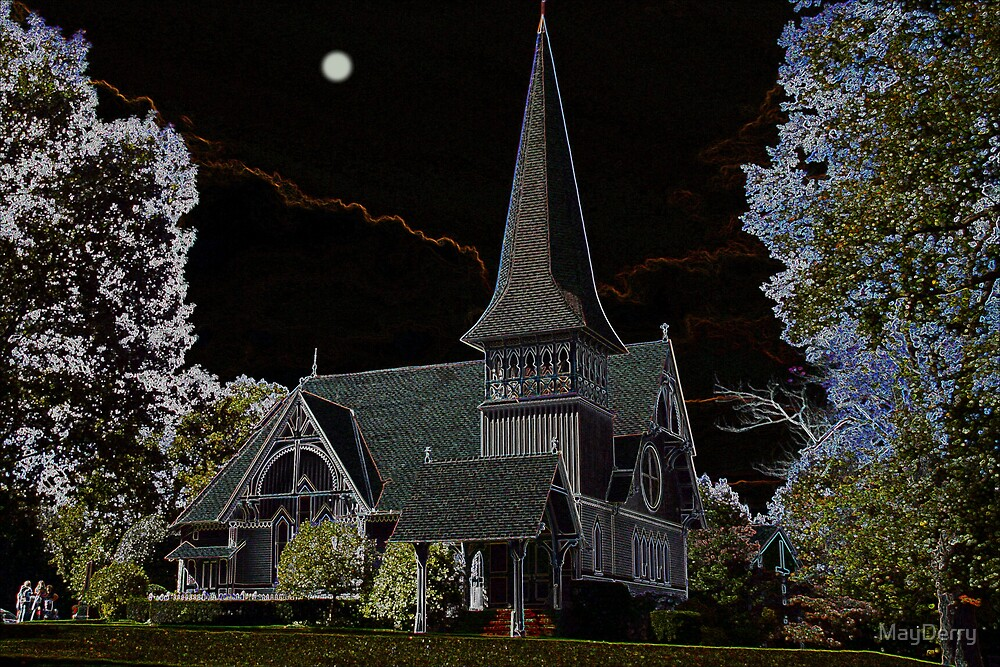 Church by Moonlight by MayDerry