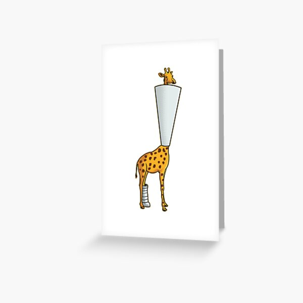 Ouch Giraffe Greeting Card