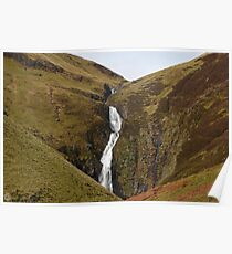 Grey Mare's Tail Waterfall  Scotland Poster