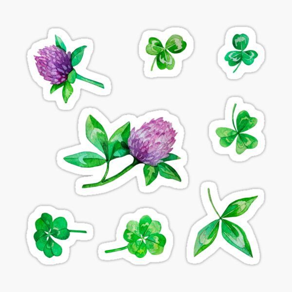 Watercolor clover collection Sticker