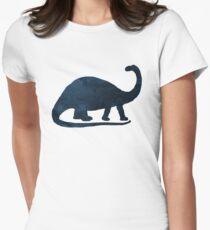 Dinosaur Art - Brontosaurus Womens Fitted T-Shirt