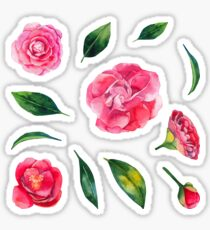 Watercolor camellia collection Sticker