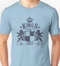 Kings are born in July Slim Fit T-Shirt