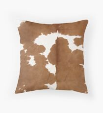Cowhide tan and white | Texture #home #lifestyle Throw Pillow