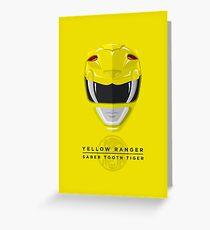 Yellow Ranger Greeting Card