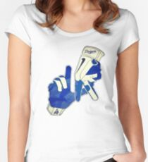 LA - Los Angeles Dodgers Women's Fitted Scoop T-Shirt