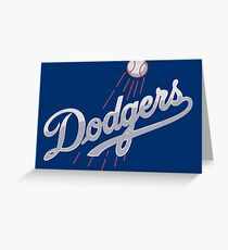 Los Angeles Dodgers - silver Greeting Card