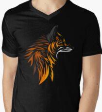 Camiseta de cuello en V Tribal fox