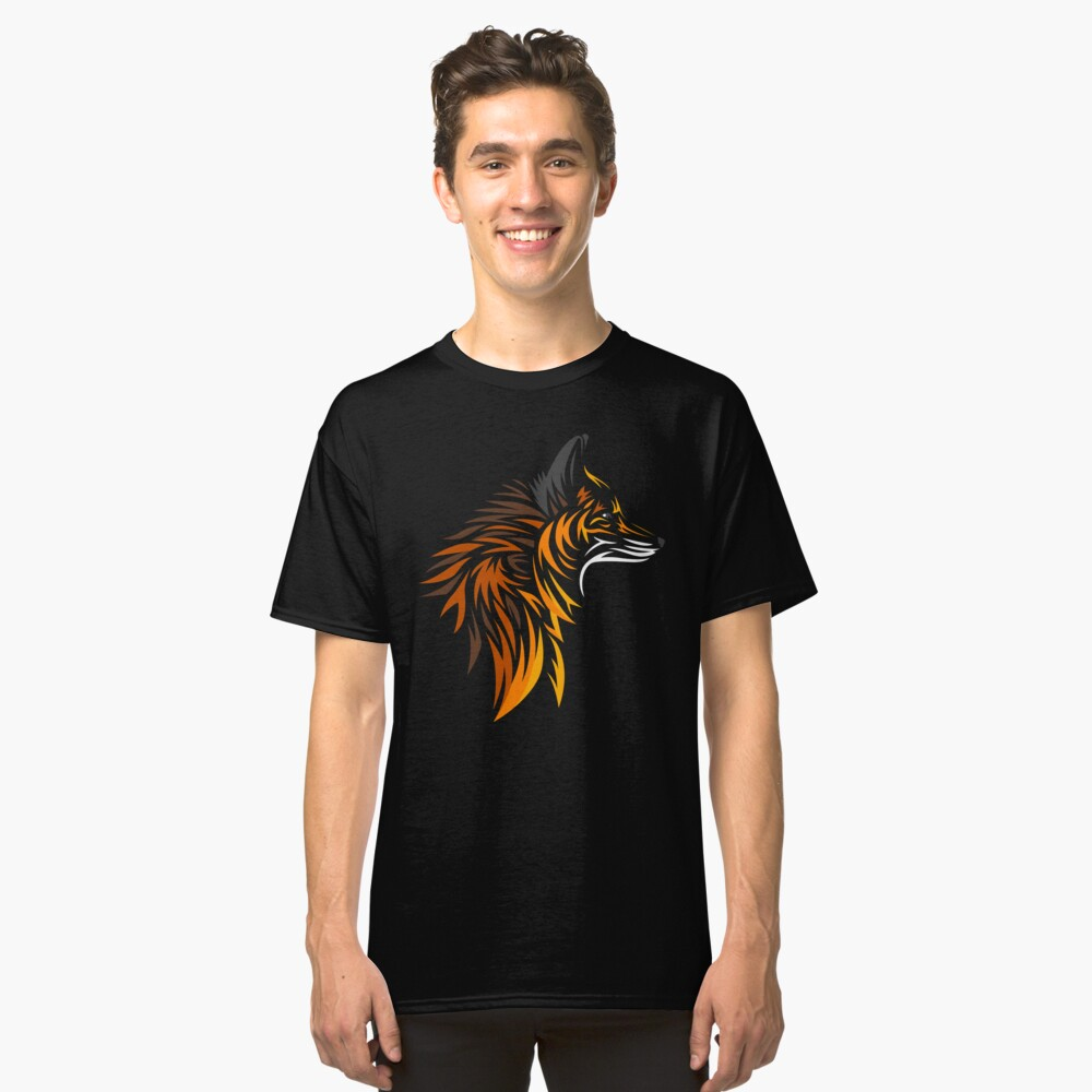 Tribal fox Classic T-Shirt Front