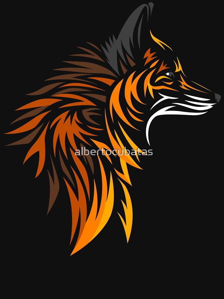 Tribal fox by albertocubatas
