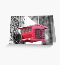 Red Birdhouse Greeting Card