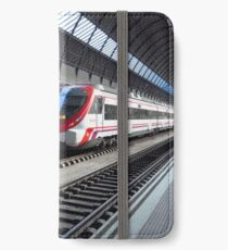 Trains at Santa Justa Station, Seville iPhone Wallet/Case/Skin