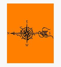 Compass With Arrow Bo Photographic Print