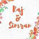 Raj & Simran by Barkha Javed