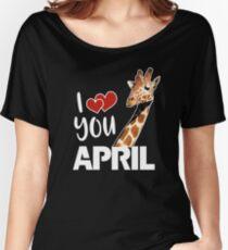 April The Giraffe T Shirt Women's Relaxed Fit T-Shirt