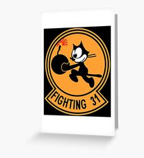 USA STRIKE FIGHTER SQUADRON 31 Greeting Card