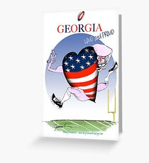 We Love Georgia, tony fernandes Greeting Card