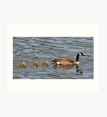 Mother and Three Babies Art Print