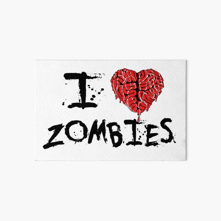 I heart Zombies Art Board Print