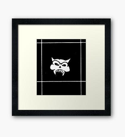 Battered Demon Skull v2 Framed Print