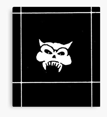 Battered Demon Skull v2 Canvas Print