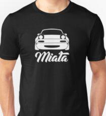 Mazda Miata NA MX-5 Silhouette White T-Shirt