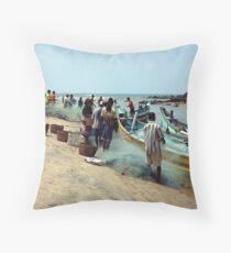 Goan Fishermen Throw Pillow