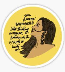 BRAINWASHED Sticker