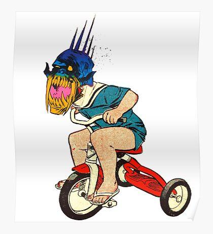 Demonic Trike Rider Poster