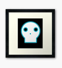 Skull Glow Cartoon Framed Print