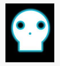 Skull Glow Cartoon Photographic Print
