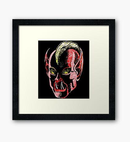 Haunted Head v1 Framed Print