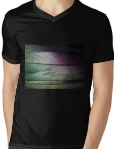 Colored Feather Background - Abstract Art of Light and Color Mens V-Neck T-Shirt