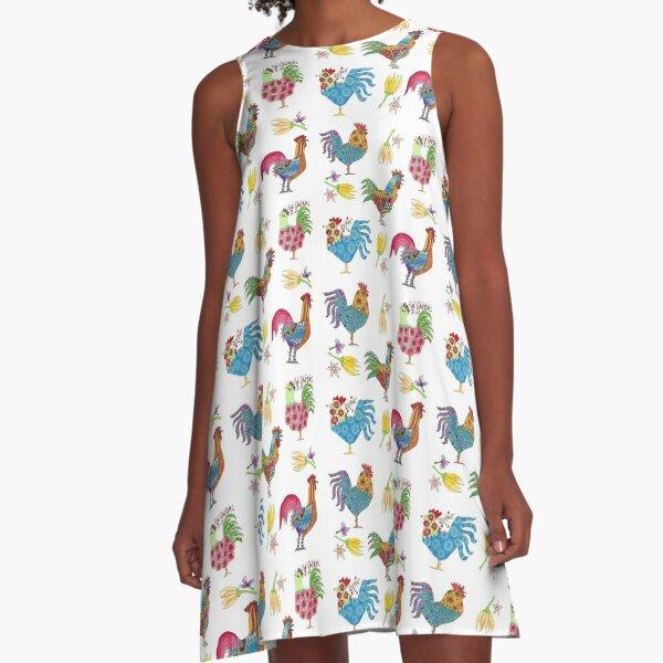 Chickens Unite A-Line Dress