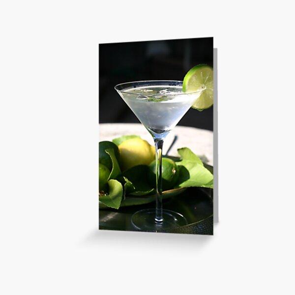 Summer Martini Greeting Card