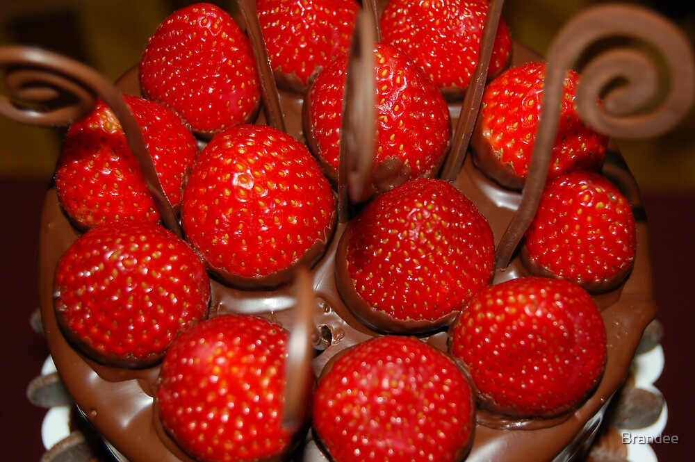 Stawberries and chocolate by Brandee