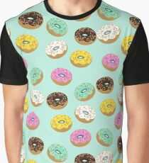 cool donuts icons- blue Graphic T-Shirt