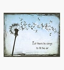 Grateful Dead - Let Their Be Songs to Fill the Air Photographic Print