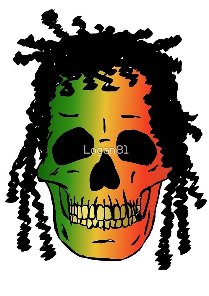 Rasta skull by Logan81