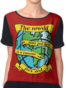 art world artistic cartoon canvas deep quote inspiration Chiffon Top