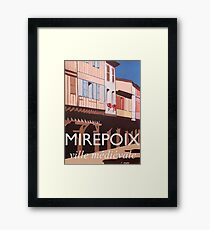 Medieval Mirepoix interior French village Art Deco style Framed Print