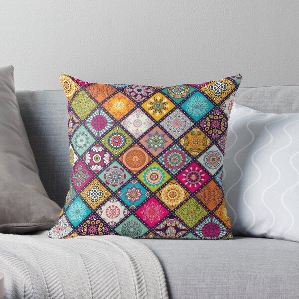 Mandala Hippie Bohemian Boho Ethnic Pattern Novelty Print Throw Pillow