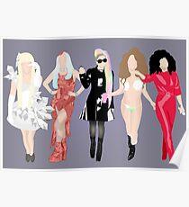 Gaga's eras. Poster