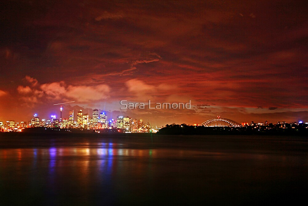 City under storm by Sara Lamond