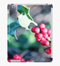 festive Christmas holly iPad Case/Skin