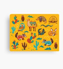 Desert animals Canvas Print
