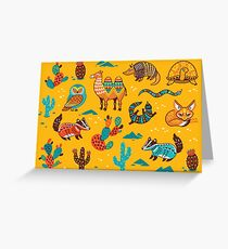 Desert animals Greeting Card